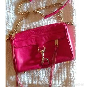 Rebecca Minkoff Red Gold Mini Mac Purse